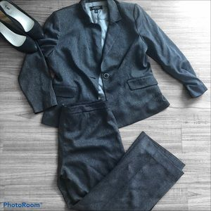 Kasper Grey 2 Piece Pant Suit and Blazer